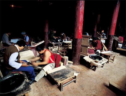 德格印经院藏族雕版印刷技艺